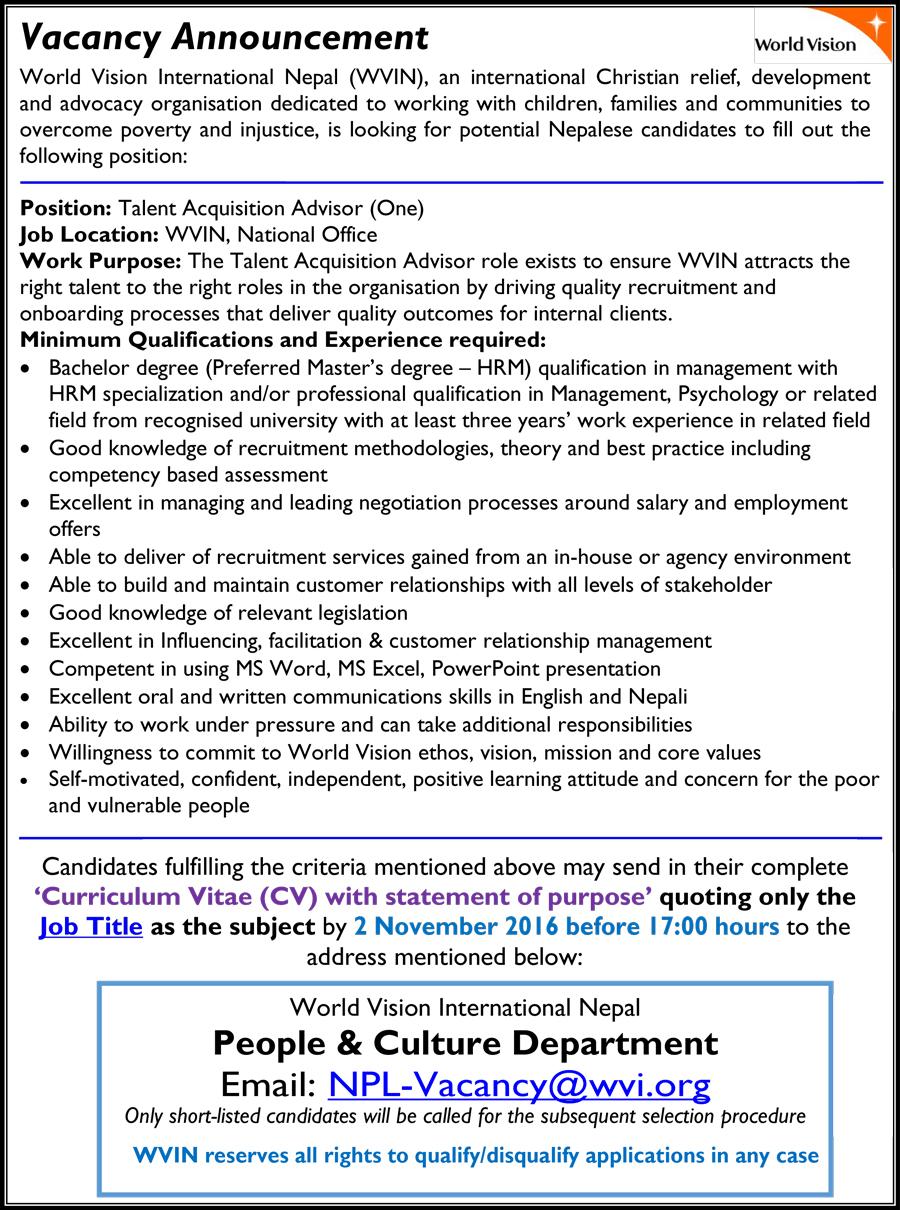 worldvision-vacancy